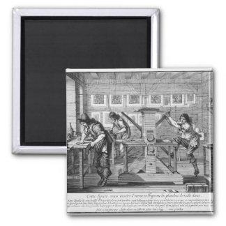 French printing press, 1642 refrigerator magnet