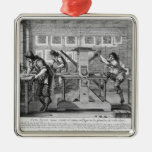 French printing press, 1642 metal ornament