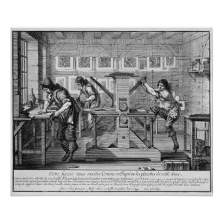 French printing press, 1642 poster