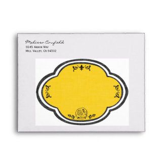 French Provencal Personalized Envelopes