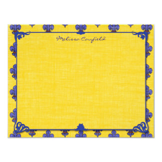 """French Provencal Personalized Note Cards 4.25"""" X 5.5"""" Invitation Card"""