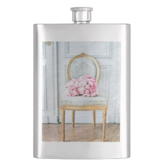 French Provencial Flowers Hip Flask