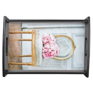 French Provencial Flowers Serving Tray