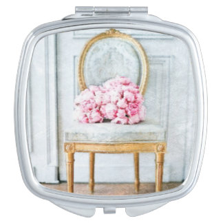 French Provencial Flowers Vanity Mirror