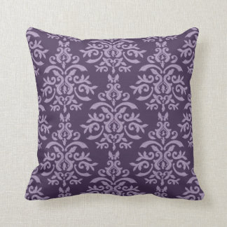 French Purple Damask pillow