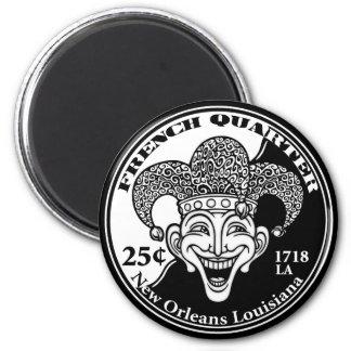 French Quarter 2 Inch Round Magnet