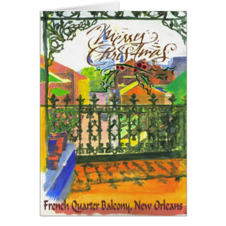 FRench Quarter Balcony Card