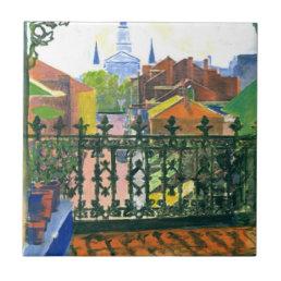 French Quarter Balcony Ceramic Tile