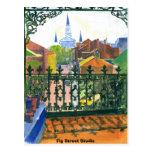 French Quarter Balcony, Fig Street Studio Postcard at Zazzle