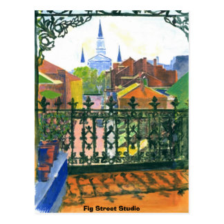 French Quarter Balcony, Fig Street Studio Postcard
