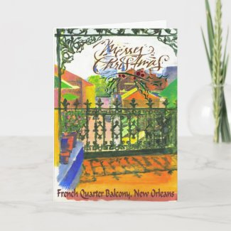 FRench Quarter Balcony Holiday Card