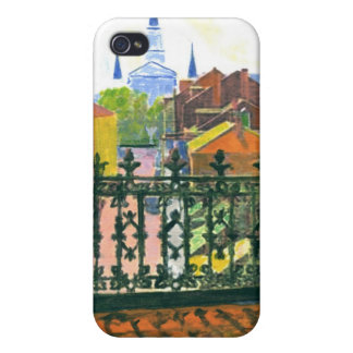 French Quarter Balcony iPhone 4 Case