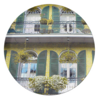 French Quarter Balcony Photography  Plate