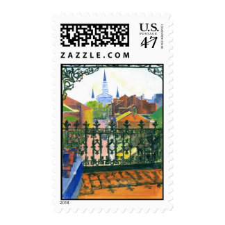 French Quarter Balcony Postage