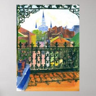 French Quarter Balcony print