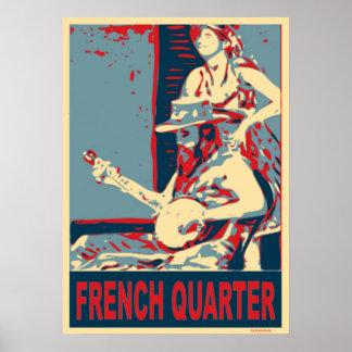 French Quarter Banjo Player Poster