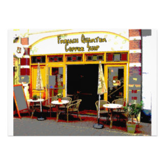 French Quarter Coffee Shop Custom Invites