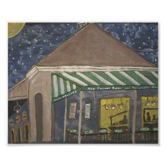 French Quarter Coffee Stand print