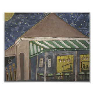 French Quarter Coffee Stand Poster