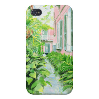 French Quarter Courtyard iPhone 4 Case