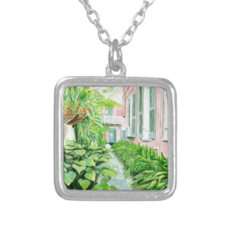 French Quarter Courtyard Silver Plated Necklace