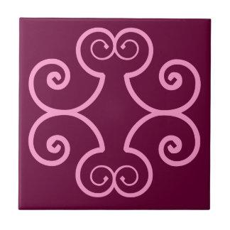 French Quarter Deep mauve & Pink Style Accent Tile