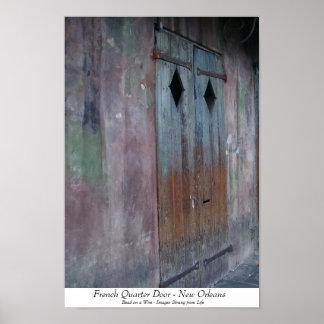French Quarter Door Poster