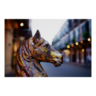 French Quarter Hitching Post Poster