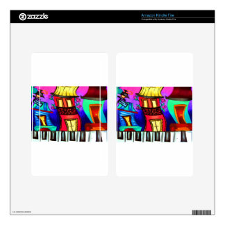 French Quarter houses on Royal Street Skins For Kindle Fire