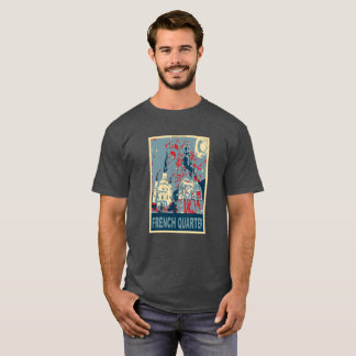 French Quarter in Blue, Jackson Square T-Shirt