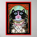 French Quarter Jazz Cat Poster