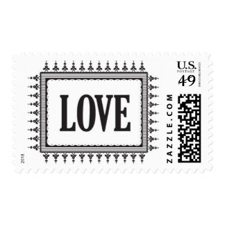 French Quarter - Love, Black Postage