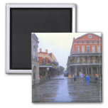 French Quarter New orleans 2 Inch Square Magnet
