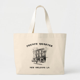 French Quarter New Orleans Large Tote Bag