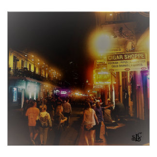 French Quarter on a Spring Evening Poster