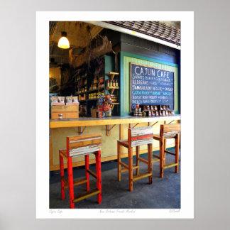 "French Quarter Photograph""Cajun Cafe"" Poster"
