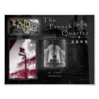 french Quarter Photography Collage Poster