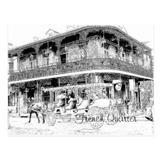 French Quarter -- Postcard