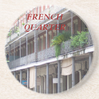 FRENCH QUARTER SANDSTONE COASTER