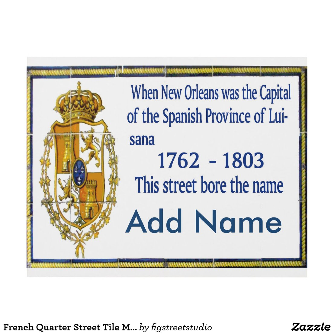 French Quarter Street Tile Murals, add text