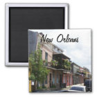 French Quarter Street View New Orleans Louisiana Magnet