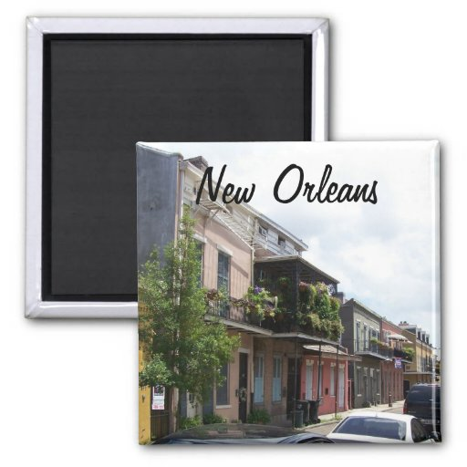 French Quarter Street View New Orleans Louisiana Refrigerator Magnets