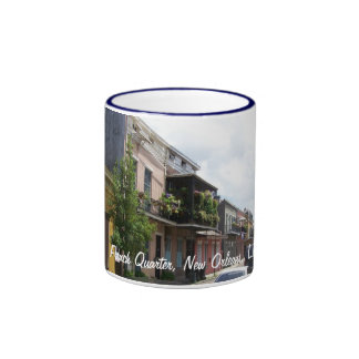 French Quarter Street View New Orleans Louisiana Ringer Coffee Mug
