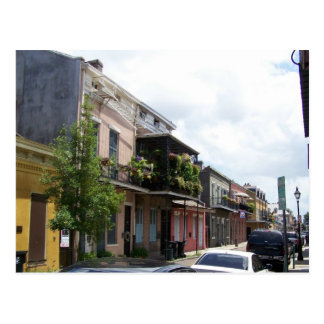 French Quarter Street View New Orleans Louisiana Post Card