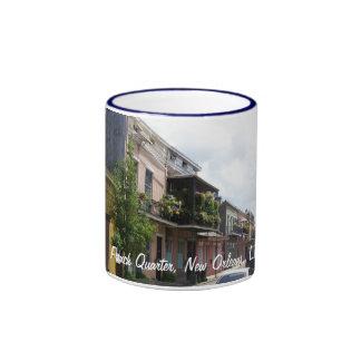 French Quarter Street View New Orleans Louisiana Ringer Mug