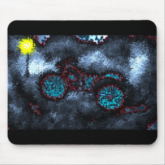 """""""French Quarter Wheels"""" Mouse Pad (Icy Blue)"""