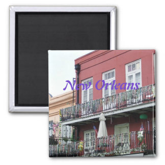 French Quarter Wrought Iron Balconies 2 Inch Square Magnet