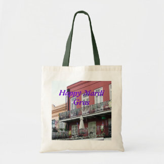 French Quarter Wrought Iron Balconies Tote Bags