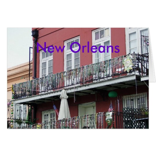 French Quarter Wrought Iron Balconies Card