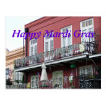 French Quarter Wrought Iron Balconies Postcard